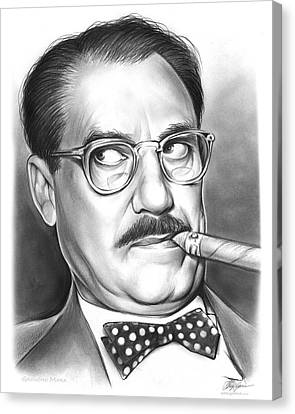 Groucho Marx Canvas Print by Greg Joens