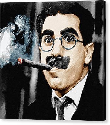 Groucho Marx Square  Canvas Print by Tony Rubino