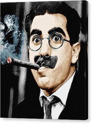 Groucho Marx Vertical  Canvas Print by Tony Rubino