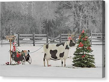 Ground Bound Santa Canvas Print by William Ferry