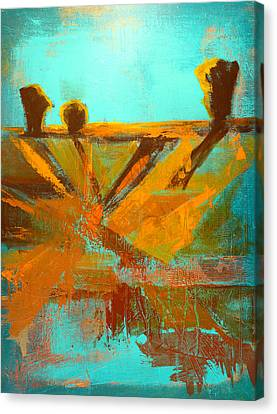 Ground Elements Canvas Print by Nancy Merkle
