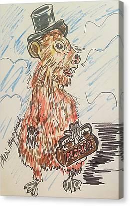Groundhog Day Canvas Print by Geraldine Myszenski