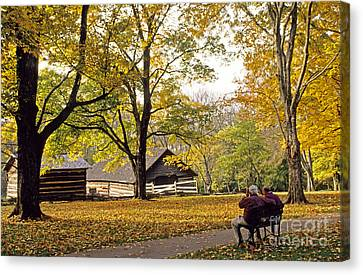 Grounds Of The Hermitage In Tennessee Canvas Print by Nancy Hoyt Belcher