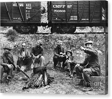Group Of Hoboes, 1920s Canvas Print