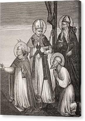 San Marco Canvas Print - Group Of Saints. Detail Of The Passion by Vintage Design Pics