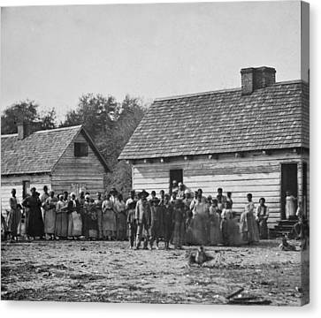 Group Of Slaves On J.j. Smiths Canvas Print by Everett
