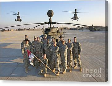 Iraq Canvas Print - Group Photo Of U.s. Soldiers At Cob by Terry Moore