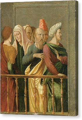 Groupe Of Figures Canvas Print by MotionAge Designs