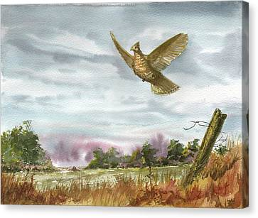 Grouse Post Canvas Print by Sean Seal