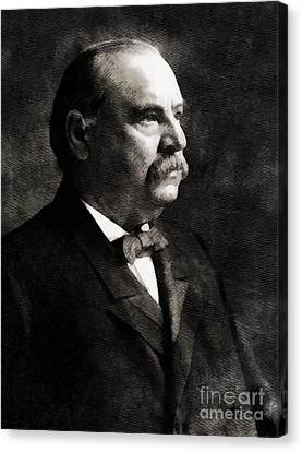 Grover Cleveland, President United States By John Springfield Canvas Print by John Springfield