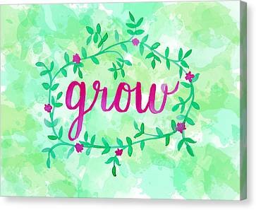 Grow Watercolor Canvas Print