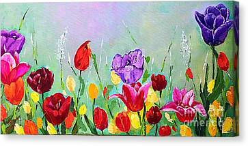 Pallet Knife Canvas Print - Growing By Themselves by Viktoriya Sirris