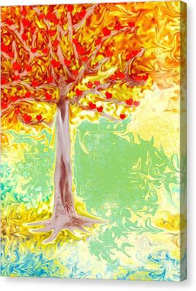 Growing Love Canvas Print by Claudia Ellis