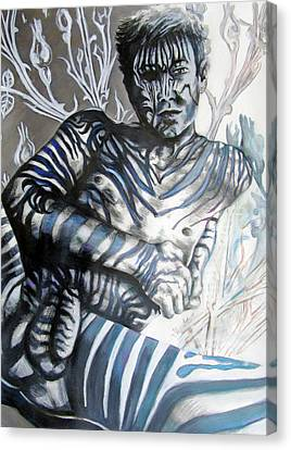 Growing Pains Zebra Boy  Canvas Print by Rene Capone