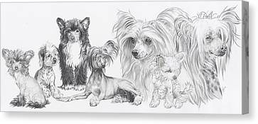 Growing Up Chinese Crested And Powderpuff Canvas Print