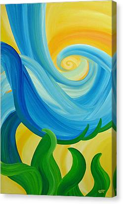 Canvas Print featuring the painting Growth by Ginny Gaura