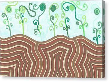 Canvas Print featuring the drawing Growth by Jill Lenzmeier