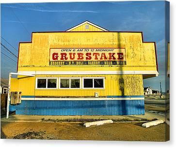 Grubstake Canvas Print by Steven Ainsworth