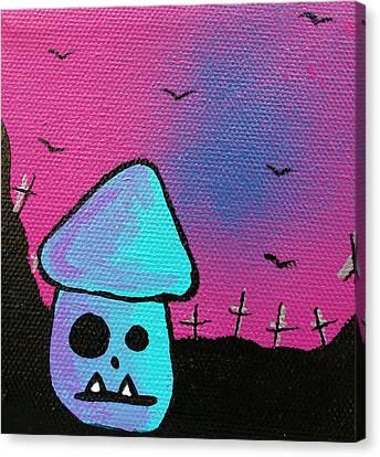 Gruff Zombie Mushroom Canvas Print by Jera Sky