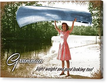 Grumman Canoe Canvas Print