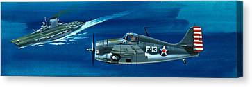 Grumman F4rf-3 Wildcat Canvas Print by Wilf Hardy