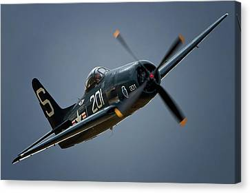 Grumman F8f Bearcat 201   2011 Chino Air Show Canvas Print by Gus McCrea