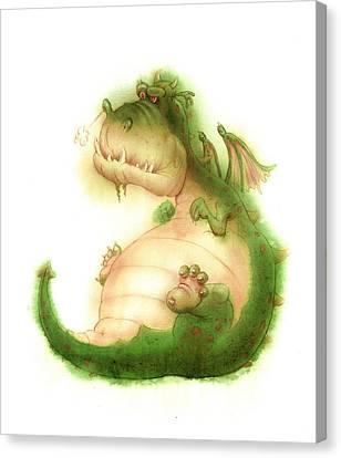 Grumpy Dragon Canvas Print