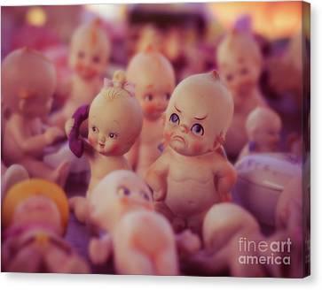 Grumpy Kewpie Doll Canvas Print