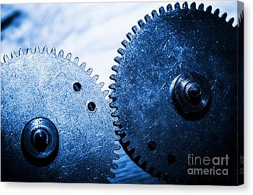 Grunge Gear Cog Wheels Canvas Print