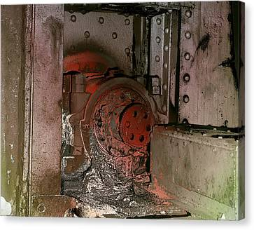 Canvas Print featuring the photograph Grunge Gear Motor by Robert G Kernodle
