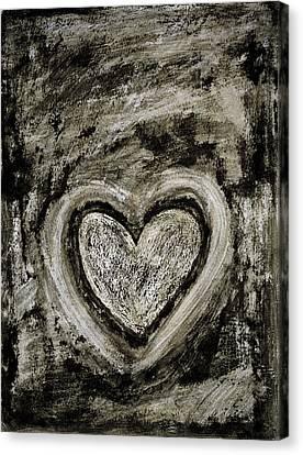 Grunge Heart Canvas Print