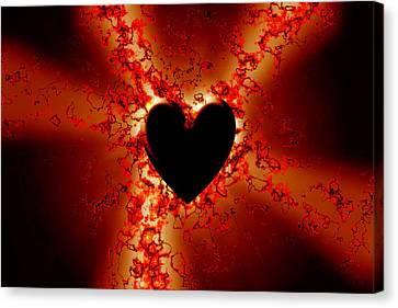 Grunge Heart Canvas Print by Phill Petrovic