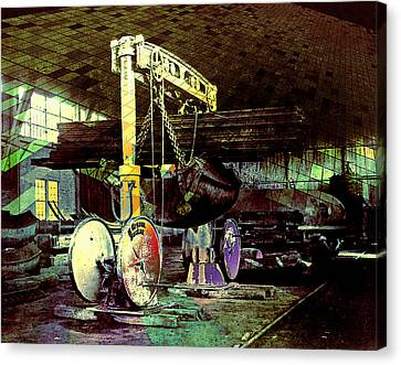 Grunge Hydraulic Lift Canvas Print