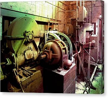 Canvas Print featuring the photograph Grunge Hydroelectric Plant by Robert G Kernodle