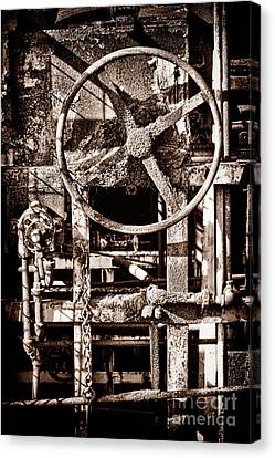 Grunge Machinery Canvas Print by Olivier Le Queinec
