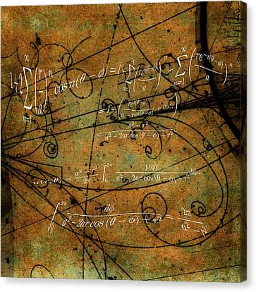 Grunge Math Equations Canvas Print