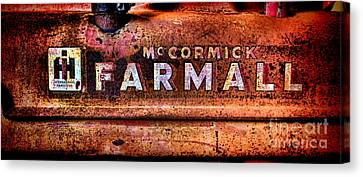 Grunge Mccormick Farmall  Canvas Print by Olivier Le Queinec