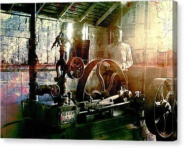 Grunge Meyer Mill Canvas Print