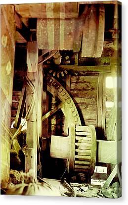 Grunge Mill Wheels Canvas Print