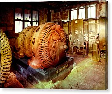 Canvas Print featuring the photograph Grunge Motor Generator by Robert G Kernodle