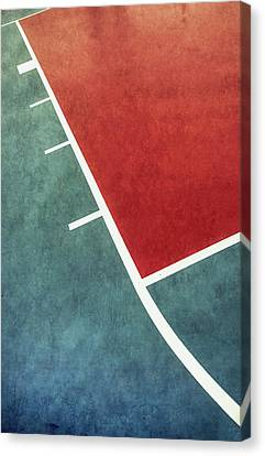 Canvas Print featuring the photograph Grunge On The Basketball Court by Gary Slawsky