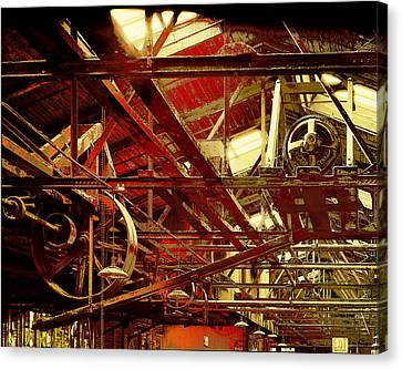 Canvas Print featuring the photograph Grunge Power System by Robert G Kernodle