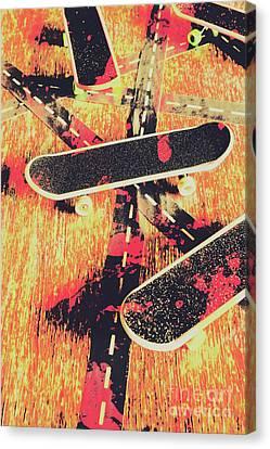 Grunge Skate Art Canvas Print