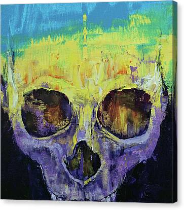 Grunge Skull Canvas Print by Michael Creese