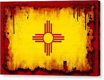 Grunge Style New Mexico Flag Canvas Print by David G Paul