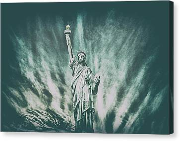Patriotism Canvas Print - Grungey Liberty by Martin Newman