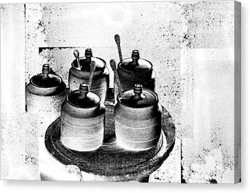 Honey Jars Canvas Print