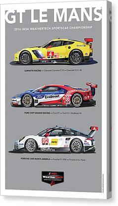 Gt Le Mans Poster Canvas Print by Alain Jamar