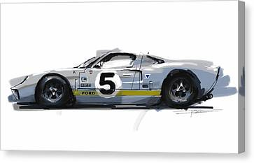 Gt40 Canvas Print by Peter Fogg