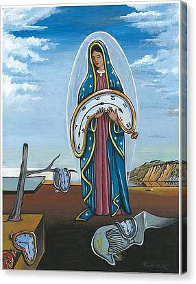 Guadalupe Visits Dali Canvas Print by James Roderick